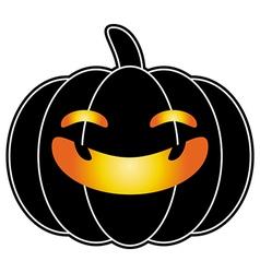 Halloween pumpkin black cartoon logo isolated vector