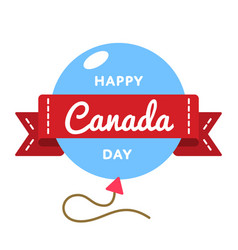 happy canada day greeting emblem vector image vector image