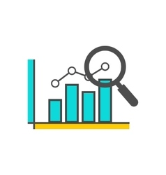 Magnifying Glass Data Analysis vector image