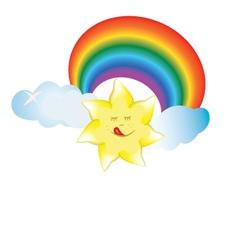 merry sun vector image