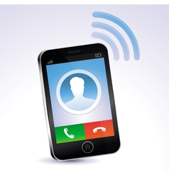 mobile phone calling vector image