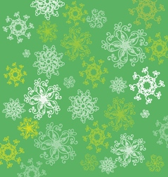 pattern with abstract flowers on green back vector image vector image