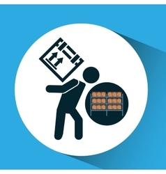 Warehouse box worker design icon vector