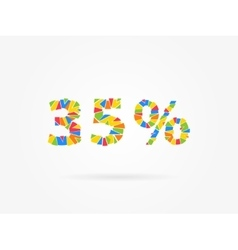 Discount 35 percent colorful vector