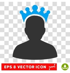 King Eps Icon vector image