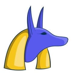 Ancient egyptian god anubis icon cartoon style vector