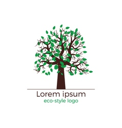 tree logo concept vector image