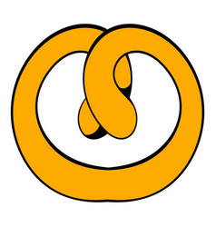 Pretzel icon cartoon vector