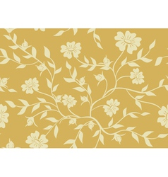 Seamless beige floral texture vector