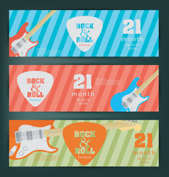 Electric guitar banner background vector