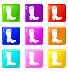 cowboy boot set 9 vector image