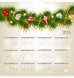 2015 New Year Calendar vector image