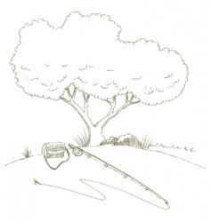 flyrod vector image