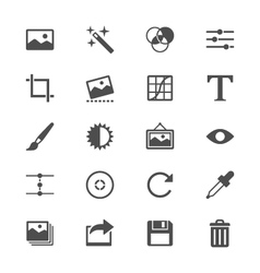 Photography flat icons vector