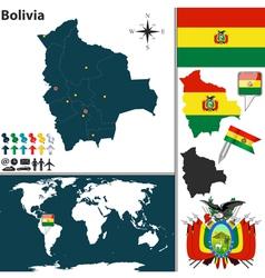 Bolivia map world vector