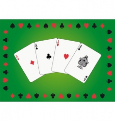 Aces poker vector