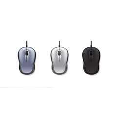 3 realistic computer mouse on white background vector image vector image