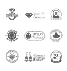 Precious Jewels Label vector image