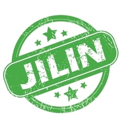 Jilin green stamp vector