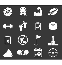 Sport icon set 1 monochrome vector