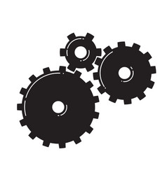 Three gears vector