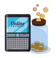 Money bank and online payment vector