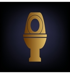 Toilet sign golden style icon vector