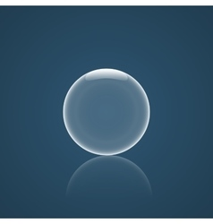 Bubble icon with reflection vector