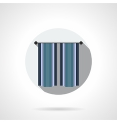 Interior curtains flat color icon vector