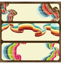 Vintage scratch banners with place for text eps 10 vector
