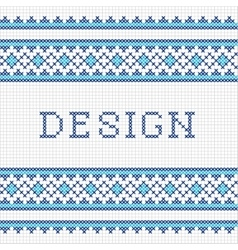 Embroidering design vector