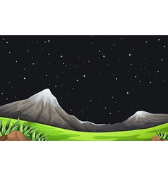 A night scene vector image vector image