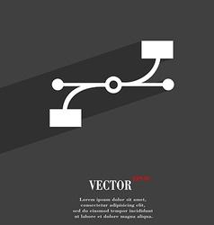 Bezier curve icon symbol flat modern web design vector