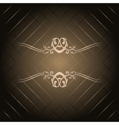 brown background with gold ornament vector image vector image