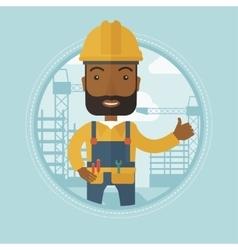 Builder giving thumb up vector image vector image