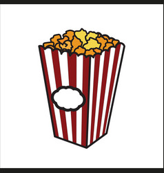 Color sketch popcorn vector