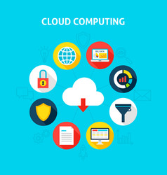 concept cloud computing vector image