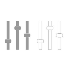 Control panel grey set icon vector