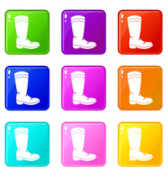 cowboy boot set 9 vector image