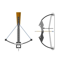 Crossbow arbalest vector image vector image