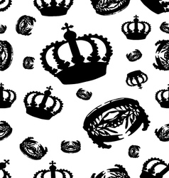 crown on white vector image vector image