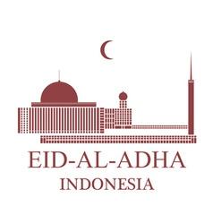 Eid Al Adha Indonesia vector image vector image