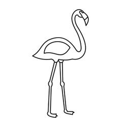 Flamingo bird icon outline style vector