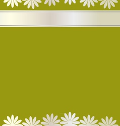 Flowers card background vector image vector image