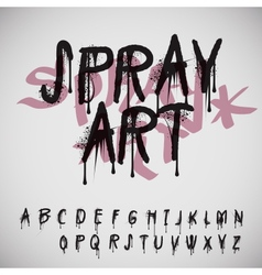 Graffiti splash alphabet vector image