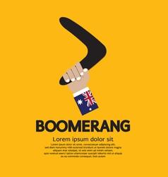 Hand Holding A Boomerang vector image