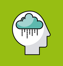 Head cloud vector