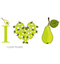 i love pears vector image vector image