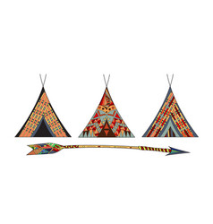 Indian wigwams vector