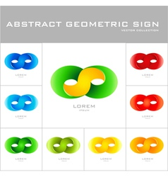 Infinity sign logo design template vector